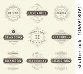 luxury logos templates set ... | Shutterstock .eps vector #1066918091