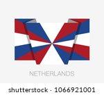 dutch flag the prinsengeus....   Shutterstock .eps vector #1066921001