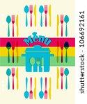 menu card  design. | Shutterstock . vector #106692161