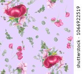 seamless floral pattern with... | Shutterstock . vector #1066922519