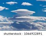 Small photo of Lenticular clouds - Altocumulus lenticularis