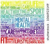 mental health word cloud...   Shutterstock . vector #1066923149