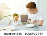 happy asian family of father... | Shutterstock . vector #1066923959
