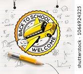 welcome back to school concept  ... | Shutterstock .eps vector #1066924325