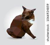 dark brown cat yellow eyes... | Shutterstock .eps vector #1066924859