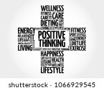positive thinking word cloud ... | Shutterstock . vector #1066929545