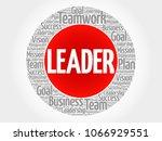 leader circle word cloud ...   Shutterstock . vector #1066929551