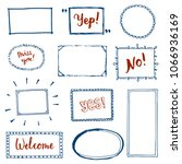 hand drawn set of simple frame... | Shutterstock .eps vector #1066936169