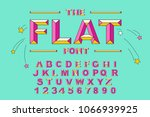 vector of modern bold font and...   Shutterstock .eps vector #1066939925