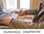 the calculators  business... | Shutterstock . vector #1066940744
