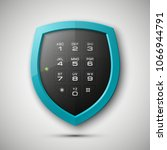 shield with electronic... | Shutterstock . vector #1066944791