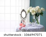 room of the blue wall and window   Shutterstock . vector #1066947071