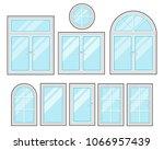 windows flat cartoon set... | Shutterstock .eps vector #1066957439
