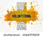 volunteering word cloud collage ... | Shutterstock .eps vector #1066959839