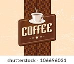 coffee retro retro | Shutterstock .eps vector #106696031