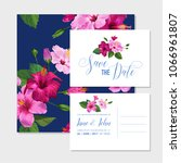 wedding invitation template set ... | Shutterstock .eps vector #1066961807