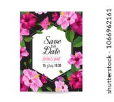 wedding invitation template... | Shutterstock .eps vector #1066962161