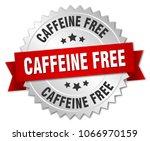 caffeine free round isolated...   Shutterstock .eps vector #1066970159
