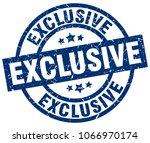 exclusive blue round grunge... | Shutterstock .eps vector #1066970174