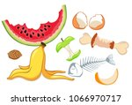 organic waste  food compost... | Shutterstock .eps vector #1066970717