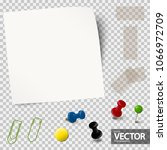 collection of one empty paper... | Shutterstock .eps vector #1066972709