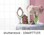 room of the pink wall and window   Shutterstock . vector #1066977155