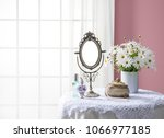 room of the pink wall and window   Shutterstock . vector #1066977185