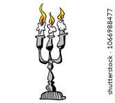 candle holder cartoon... | Shutterstock .eps vector #1066988477