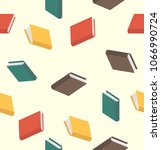 books pattern seamless colored... | Shutterstock .eps vector #1066990724