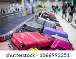 baggage on carousel at the...   Shutterstock . vector #1066992251