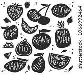 set of various hand drawn... | Shutterstock .eps vector #1066992464