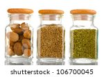 Powder Spices In Glass Jars ...