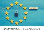 european union sign with a... | Shutterstock . vector #1067006171