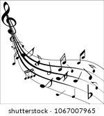 abstract music notes on line... | Shutterstock .eps vector #1067007965