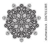black and white mandala vector... | Shutterstock .eps vector #1067011385