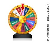 concept of lottery win.... | Shutterstock .eps vector #1067011574