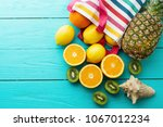 citrus fresh food. summer... | Shutterstock . vector #1067012234
