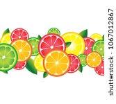 background of citrus fruits.... | Shutterstock .eps vector #1067012867