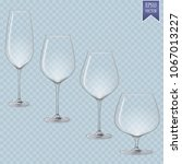 set of cocktail stemware and... | Shutterstock .eps vector #1067013227