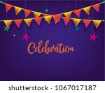 carnival background with flags... | Shutterstock .eps vector #1067017187