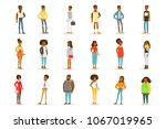 afro american black people... | Shutterstock .eps vector #1067019965