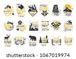 alaska national park promo... | Shutterstock .eps vector #1067019974