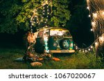 night picnic of a young couple... | Shutterstock . vector #1067020067