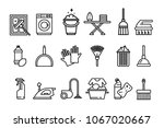 cleaning icons set  washing... | Shutterstock .eps vector #1067020667
