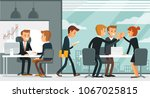 office space with working people | Shutterstock .eps vector #1067025815