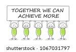 hand drawn concept of stickman... | Shutterstock .eps vector #1067031797
