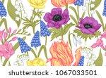 spring flowers. flower vintage... | Shutterstock .eps vector #1067033501