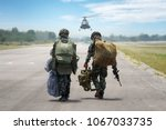 parachute attack airborne  ... | Shutterstock . vector #1067033735