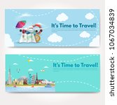 it s time to travel.trip to...   Shutterstock .eps vector #1067034839