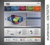 website template   Shutterstock .eps vector #106703705